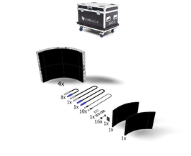 LEDSKIN CURVED IN SET: 4 CURVES [0496X0496MM] IN FLIGHTCASE - P3.1 USA
