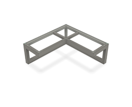 iZi-BAR CORNER ELEVATION [0248X0620X0248MM] RAL 9006 TEC