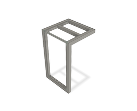 iZi-WALL TABLE [0620X0620X1054MM] RAL 9006 TEC