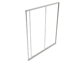 POP-OUT GLASS PROFILE SET [2170 X 2480MM] ANO - EXCL. GLASS