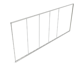 POP-OUT GLASS PROFILE SET [5952 X 2480MM] ANO - EXCL. GLASS