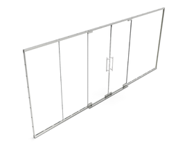 POP-OUT GLASS PROFILE SET WITH DOOR [5952 X 2480MM] ANO - EXCL. GLASS