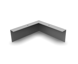L PLINTH CORNER [0250X0250MM] RAL