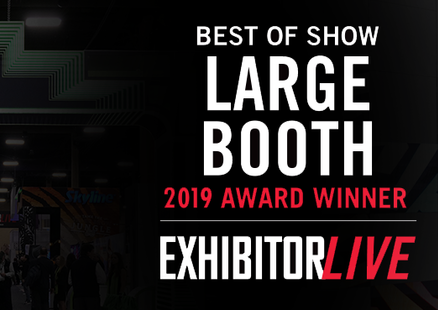 beMatrix® USA Takes Best of Show Large Booth at EXHIBITORLIVE