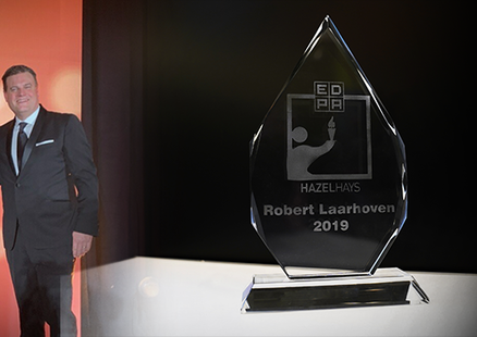 beMatrix President Robert Laarhoven wins Hazel Hays Award at EDPA
